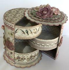 Unnis бумаги Craft: Подарочная коробка с ящиками