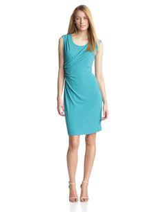 Double-Layer Wrap Dress by Calvin Klein