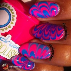 repost via @instarepost20 from @littlepandapit Water marble using @pipedreampolish #pipedreampolish ANIVC colors. All in and on the list#instarepost20