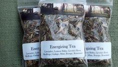 ENERGIZING TEA $9.00 Contains Lavender, Lemon Balm, Licorice Root, Skullcap, Gingko, Mint, Borage, Rosemary. Price $9.00 @ http://www.mysticdreamsco.com/store/p11/Energizing_Tea.html #tea #herbalttea #teas