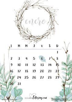 Calendario 2017 para descargar gratis. Lo puedes imprimir tantas veces quieras. Nuestro calendario es muy bonito y te servirá para practicar tu lettering.