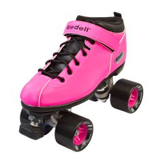 Roll in style at the roller rink with the Riedell Dart quad roller skate. Available in six fun colors, the Dart comes with exclusive matching color hubs that wi
