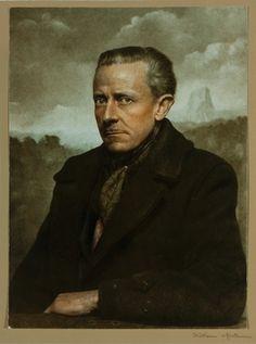 Self Portrait of William Mortensen, 1955. American nightmares: the photography of William Mortensen