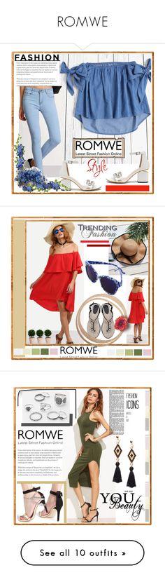 """""""ROMWE"""" by crvenamalina ❤ liked on Polyvore featuring Mix & Match, WALL and GALA"""
