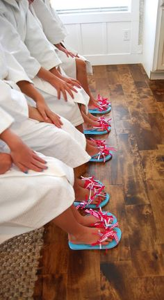 So cute for a girl spa party!