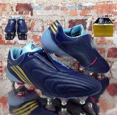 461546d9605c3 adidas Mens F50i Tunit Messi Football Boots Blue sz 8 Soccer Cleats US 8.5  EU 42