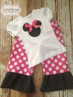 Minnie Mouse Ruffle Pants Outfit