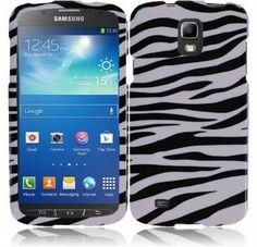 For Samsung Galaxy S4 Active i537 Design Cover - Zebra