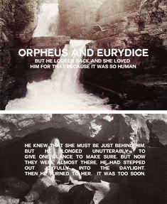 Orpheus and Eurydice <3