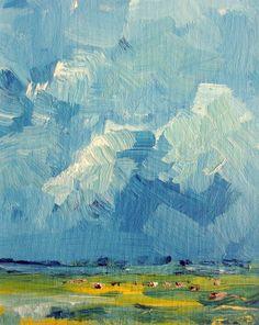 "W Van de Wege; Acrylic, 2012, Painting ""Light and shadow Beveland"""