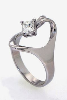 ISIS Solitaire Square Diamond Ring Diamond