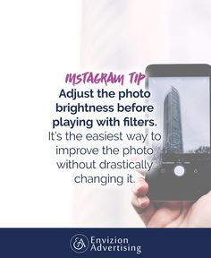 Adjust the photo brightness before playing with filters. It's the easiest way to improve the photo without drastically changing it. https://instagram.com/laurarike/