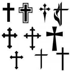Black Cross Tattoos Design Stencil tattoos Cross tattoo cross tattoo designs - Tattoos And Body Art Black Cross Tattoos, Small Cross Tattoos, Cross Tattoos For Women, Small Tattoos, Simple Cross Tattoo, Cross Tattoo On Wrist, Bild Tattoos, Love Tattoos, Body Art Tattoos