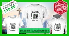 Love Your City Seattle? Be tourists-friendly and help visitors find their way around the City. Limited Edition