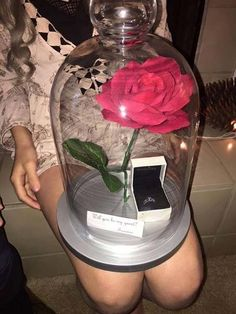16 romantic and unforgettable marriage proposal ideas - A request in the style of Beauty and the Beast. 16 romantic and unforgettable marriage proposal ideas Cute Prom Proposals, Homecoming Proposal, Wedding Proposals, Marriage Proposals, Prom Posals, Homecoming Ideas, Cute Promposals, La Proposition, Dance Proposal