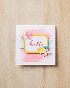 A sweet alternate card idea for the Watercolor Wishes Card Kit, made by Jen C., a designer at Stampin' Up!