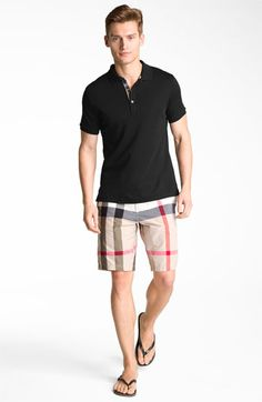 Burberry polo & shorts