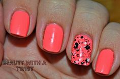 Mani Mondays: Flip Flop Fantasies Indeed! with Maybelline's Clearly Spotted as an accent