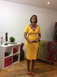 Items similar to African fashion,Ankara style,high Neck mustard pencil dress with African print lenght sleeve.below the knee lenght,close fitted dress. African Fashion Ankara, Power Dressing, African Attire, Ankara Styles, Pencil Dress, High Neck Dress, Suit, Culture, Inspired