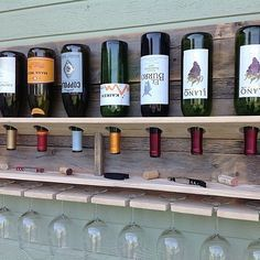 I keep seeing wine racks everywhere but this is the only one I've seen that properly stores the bottles...upside down which allows the cork to stay moist.