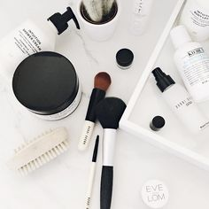 monochrome beauty products | onlinestylist on Instagram |