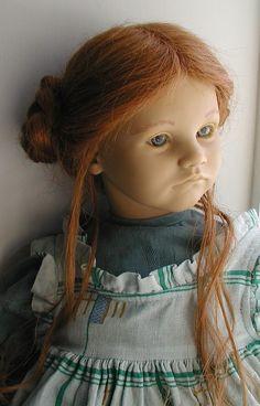 """Annette Himstedt Barefoot Children Series KATHE DOLL Vintage 26"""" w/BOX & Cert #DollswithClothingAccessories"""