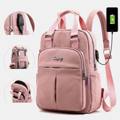 Chic Woman Waterproof Bagpack Laptop Backpack with USB Charger Female Back Pack Bags Womens Handbags from top store Bags Travel, Travel Backpack, Travel Bags For Women, Usb, Laptop Rucksack, Computer Backpack, Laptop Bags, Anti Theft Backpack, Cool Backpacks