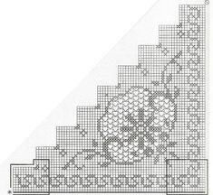 """Photo from album """"Вяжем все on Yandex. Granny Square Häkelanleitung, Granny Square Crochet Pattern, Crochet Borders, Crochet Granny, Crochet Tablecloth, Crochet Doilies, Crochet Lace, Filet Crochet Charts, Crochet Diagram"""