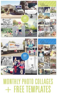 Simple memory keeping using photo collages. Free templates included. #projectlife #photos