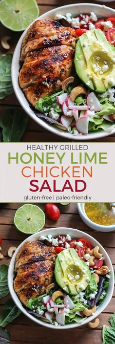 This Grilled Honey Lime Chicken will definitely be your new go-to! Simple yet so delicious! Gluten-free, paleo-friendly (just leave out the cheese if dairy-free!)