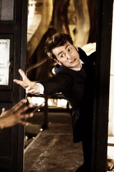 David Tennant ~ The Doctor ~ the Sarah Jane Adventures. All Doctor Who, 10th Doctor, Geronimo, David Tennant, Tv Doctors, Torchwood, Time Lords, Dr Who, Red Cross