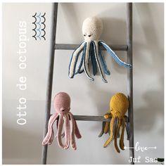 Otto de Octopus handmade by juf Sas met gratis haakpatroon Otto de octopus handmade by juf Sas met gratis patroon Crochet Eyes, Diy Crochet, Crochet Dolls, Crochet Toys Patterns, Amigurumi Patterns, Stuffed Toys Patterns, Crochet Octopus, Knitted Baby Blankets, Creative Kids