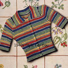 1930 ' s couture illustrée PDF tricot motif par 1940sPatterns