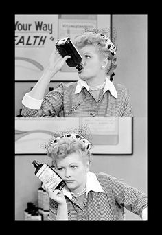 "I Love Lucy ""Hi I'm your vitameatavegamin girl- are you tired, run down, listless? Do you poop out at parties? Are you unpopular? The answer to all your problems is in this little bottle!"""