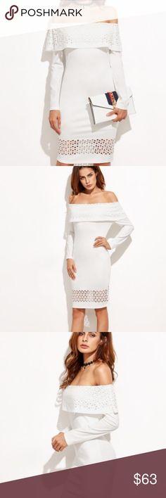 📛SALE White off the shoulder dress Cutout off the shoulder dress. Super cute!!⚠️ Dresses Midi