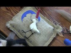 How To Needle Felt Animals - Fox Series 2: Wrapping by Sarafina Fiber Art - YouTube