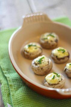 Recept voor gevulde champignons met roomkaas