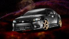 Studio Car Photography of Customized Black Scion tC [BP imaging - Bochsler Photo Imaging]