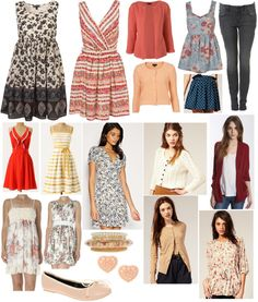 Quinn's clothes from Glee...super cute and casual