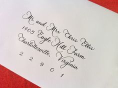 wedding invitations caligraphy | Custom Wedding Invitation Calligraphy : 'Megan' style