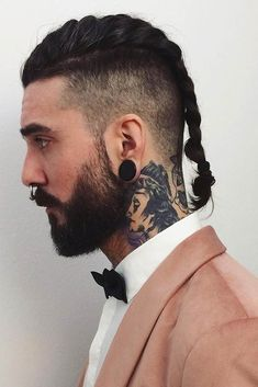 Terrific Braided Undercut #vikinghairstyles #vikinghair #undercut #manbraid ❤️ Want to pull off one of those masculine viking hairstyles? Check out our gallery to find the most iconic mens haircuts for short and long hair: braids, undercut, top knot, and lots of ideas are here! ❤️ See more:  #lovehairstyles #hair #hairstyles #haircuts