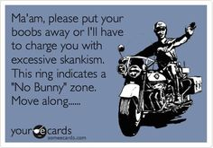 "Lmao!! I'm never teasing my friend abt this again....she is so above the ""badge bunny shanks""!  hahaha I love this!!"