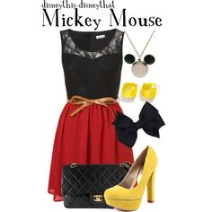 Disney Outfit - Mickey Mouse ...kinda strange but I love this!