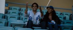 Los Angeles Dodgers jersey worn by Michael Ealy and Los Angeles Dodgers cap worn Joy Bryant in ABOUT LAST NIGHT (2014) @Los Angeles Dodgers