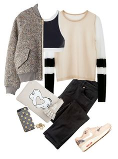 """""""Sporty Chic : Current Mood"""" by loveraige ❤ liked on Polyvore featuring Wrap, Alexander Wang, T By Alexander Wang, Anya Hindmarch, Kate Spade, Acne Studios and NIKE"""