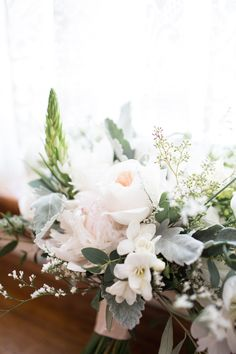 Created by Brantford Blooms Florist. White Wedding Bouquets, Ivory Wedding, Our Wedding, Bouquet Wedding, Blooms Florist, Table Settings, Photo And Video, Create, Plants