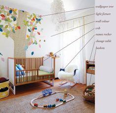 VINTAGE & CHIC: decoración vintage para tu casa [] vintage home decor: Un dormitorio de bebé en tonos neutros [] Neutral palette nursery