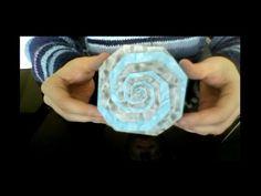 Origami spiral box (full video) - YouTube