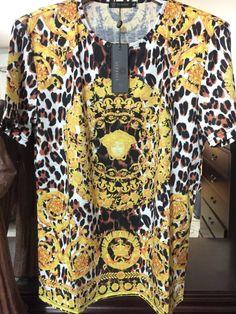 0155e6405 Versace Barocco t shirt 'Size XL' (Stunning Rare Piece w Animal and Ba –  OmarsHighEndStore.com