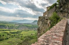 Ancient Hamlet Of San Leo. A Look From The Castle. Rimini.